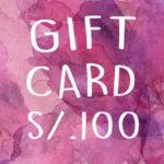 GIFT CARD 100-01