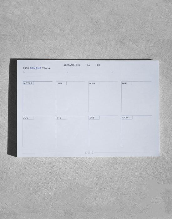 Planner Minimal Azul 1-2